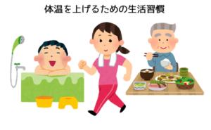 湯船につかる 運動する 食事 体温を上げる 習慣